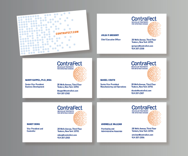 ContraFect branding designed by Ellen Shapiro, Visual Language LLC